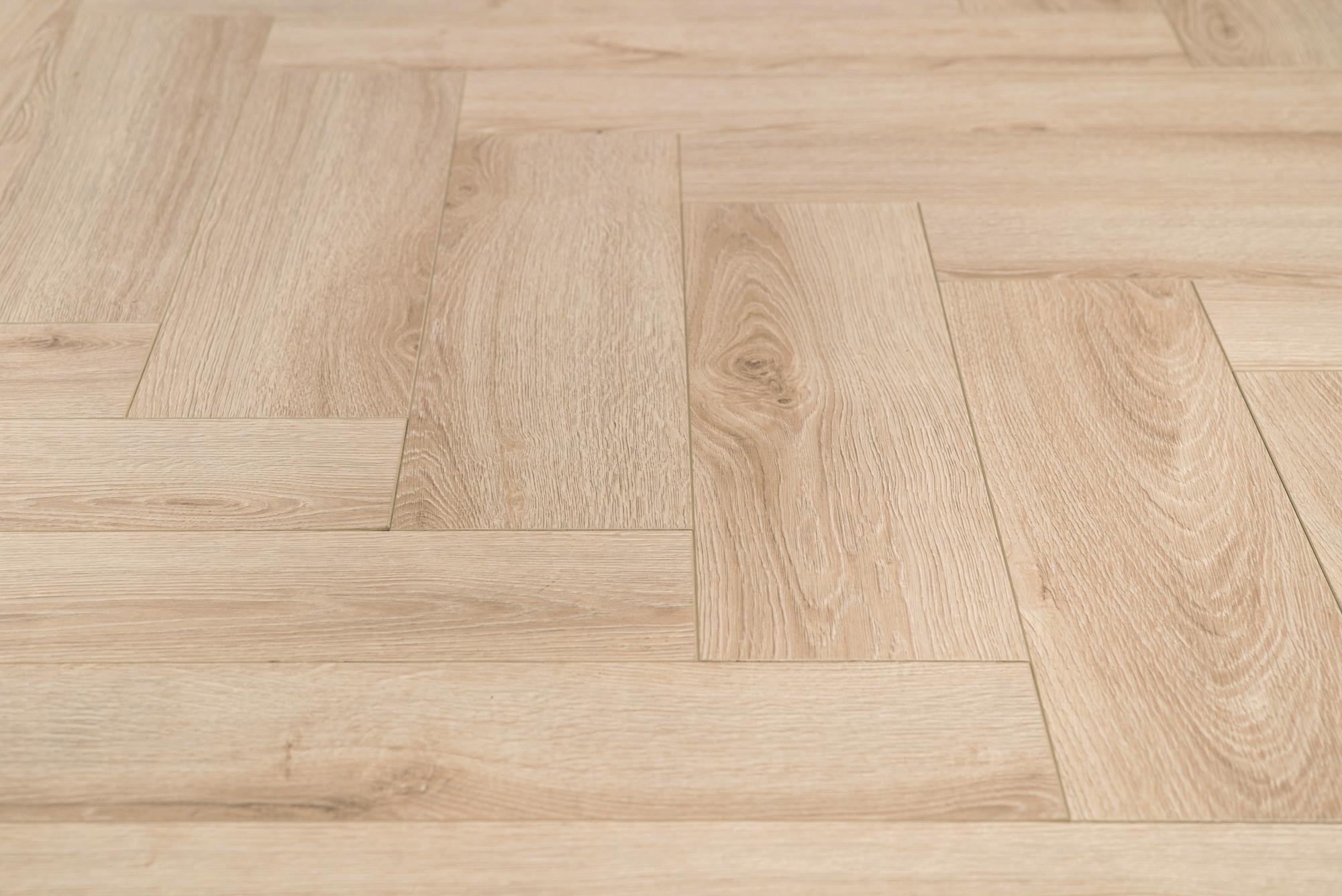Floer visgraat laminaat vloeren crème eiken patroon vloer