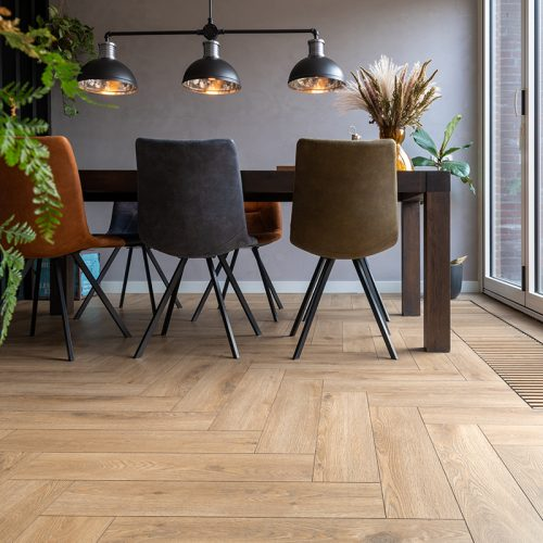 De verschillende legverbanden van laminaat patroon vloeren