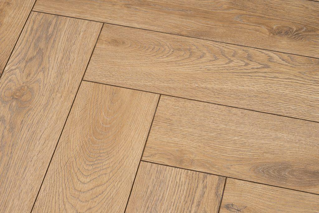 Floer-Visgraat-Laminaat-Vloer-Bruin-Eiken vloer v-groef